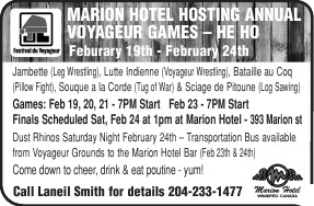 Marion Hotel Annual Voyageur Games