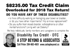 2018 Tax Credit Claim