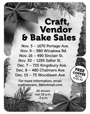 Craft Vendor ansd Bake Sales
