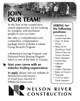 Join the team at Nelson River Construction